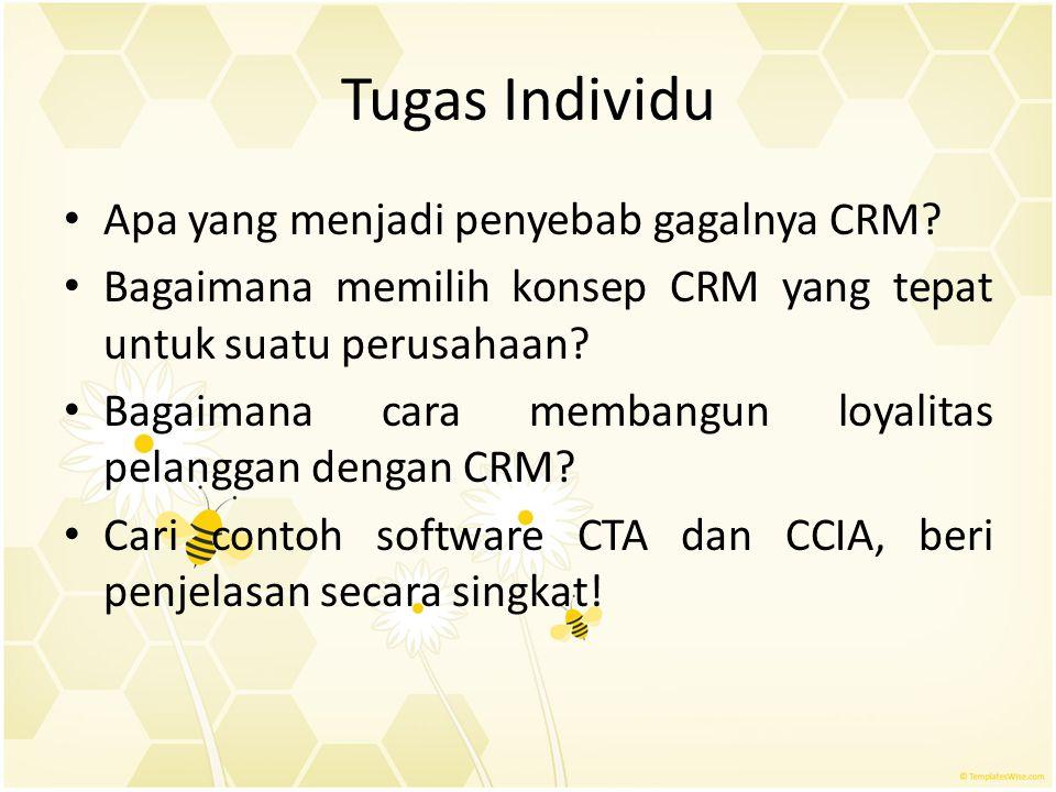 Tugas Individu Apa yang menjadi penyebab gagalnya CRM