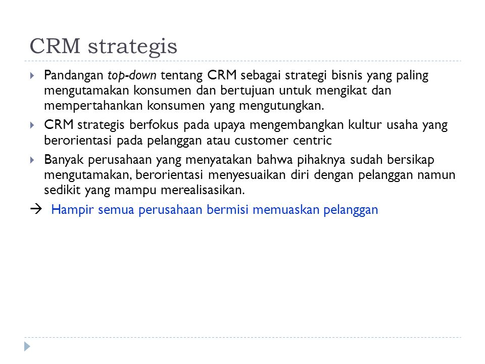 CRM strategis