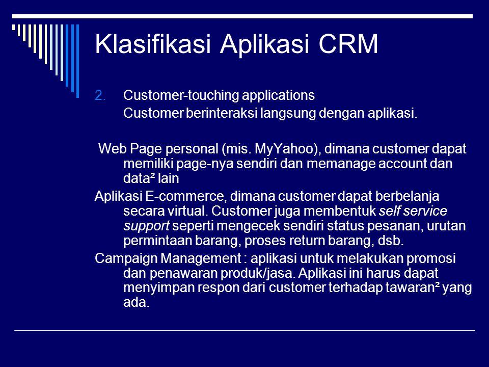 Klasifikasi Aplikasi CRM