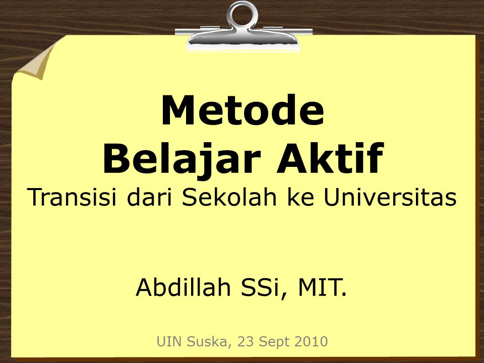 Transisi dari Sekolah ke Universitas