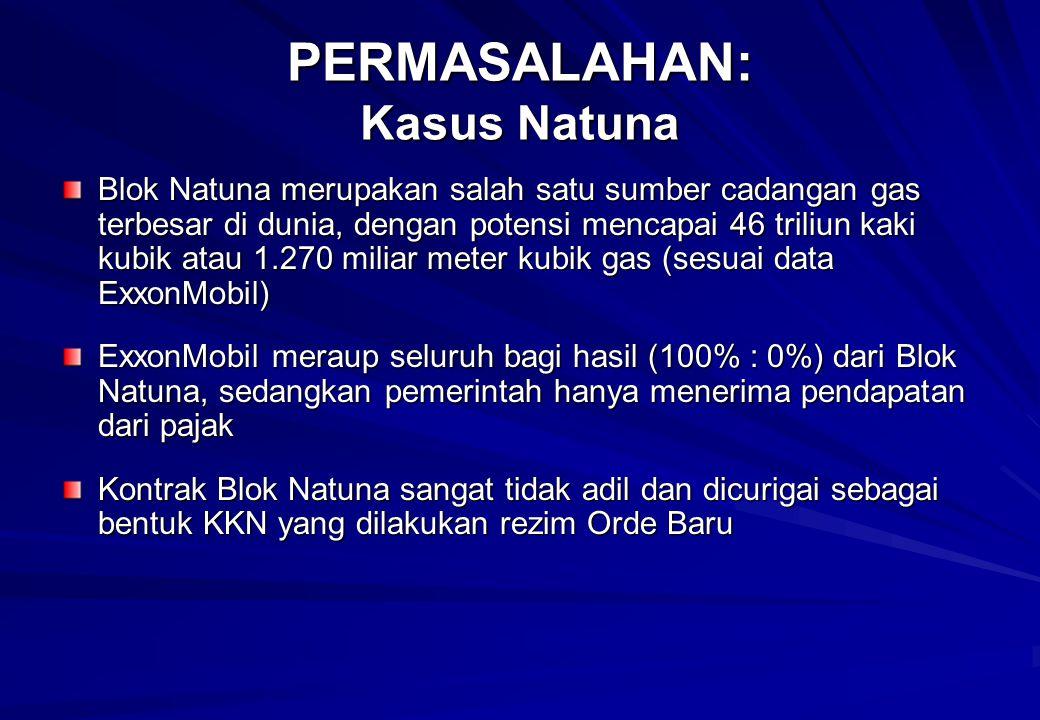 PERMASALAHAN: Kasus Natuna