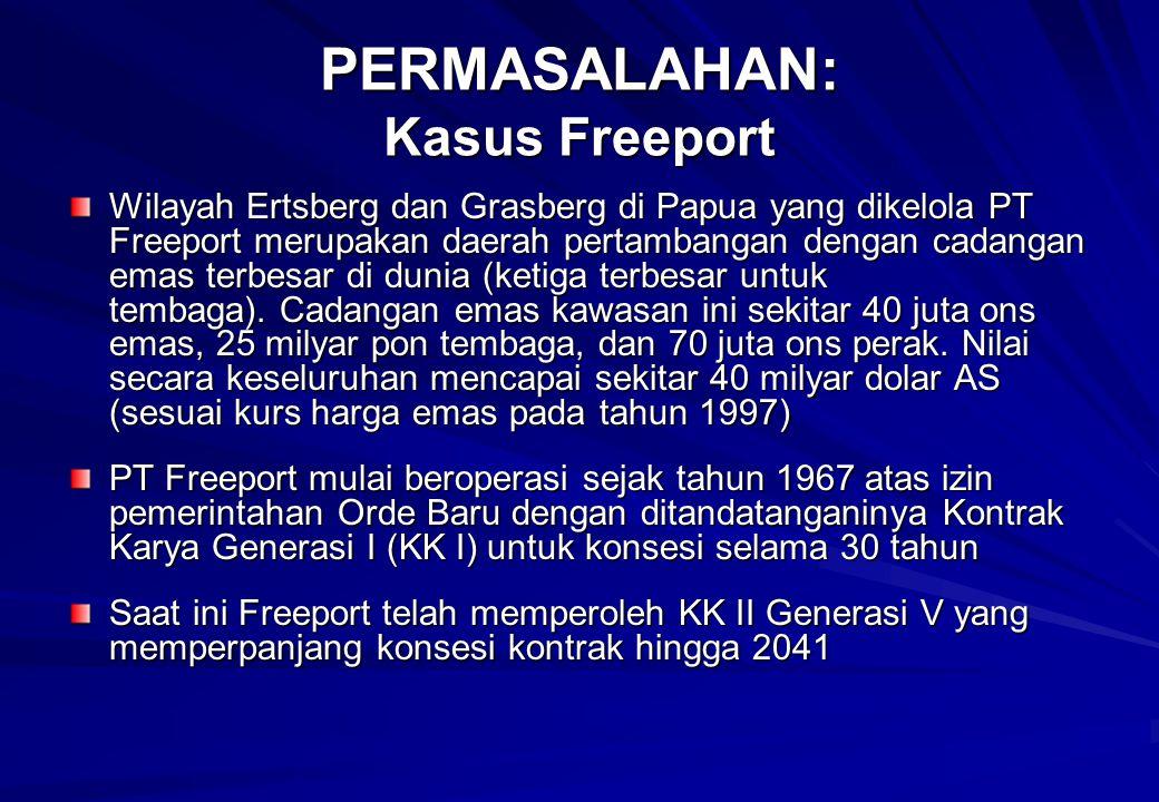 PERMASALAHAN: Kasus Freeport