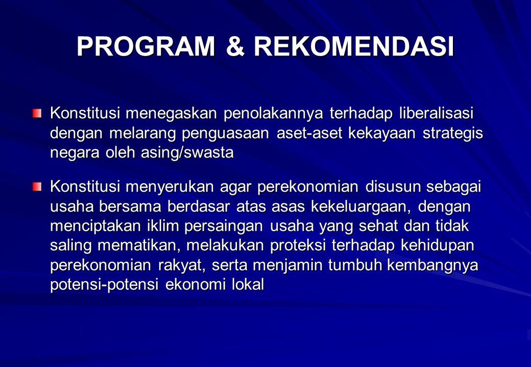 PROGRAM & REKOMENDASI