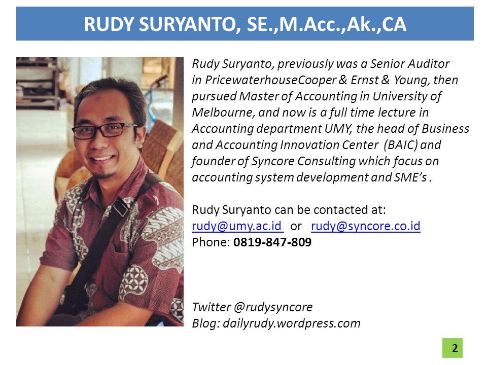 RUDY SURYANTO, SE.,M.Acc.,Ak.,CA