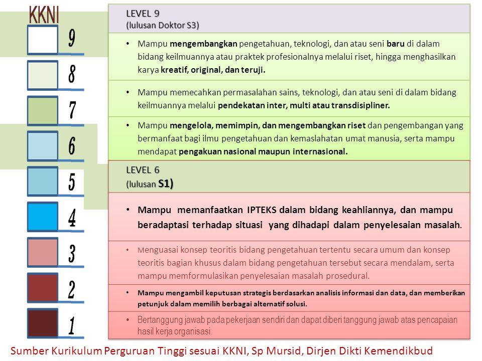 LEVEL 9 (lulusan Doktor S3)