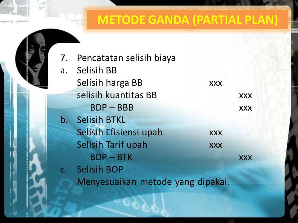 METODE GANDA (PARTIAL PLAN)