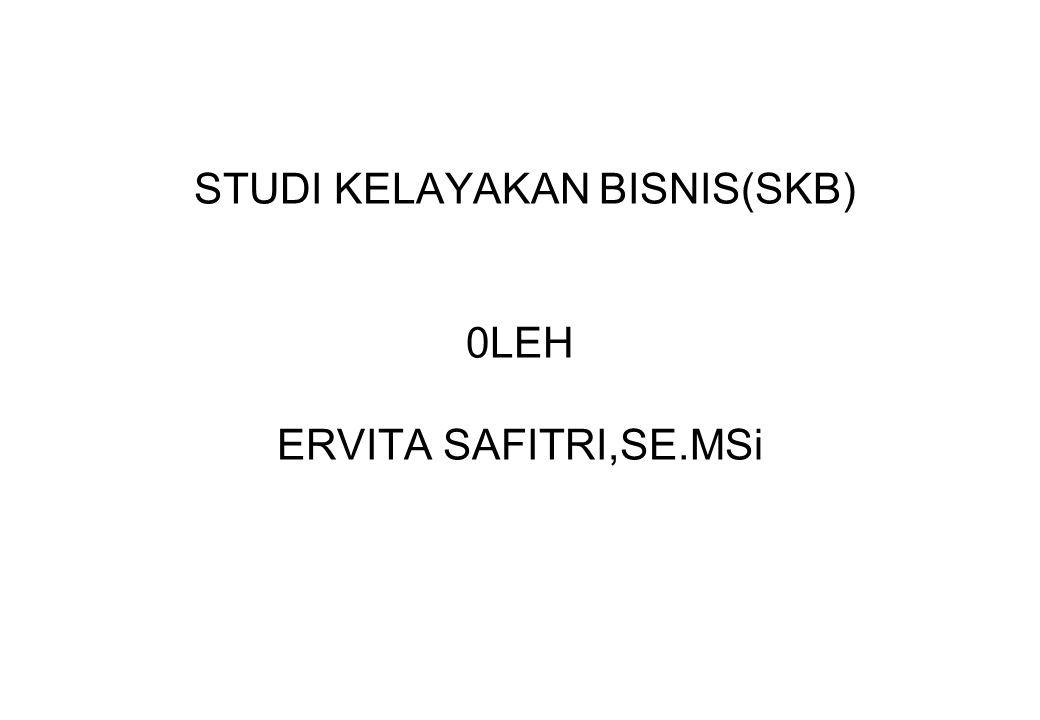 STUDI KELAYAKAN BISNIS(SKB) 0LEH ERVITA SAFITRI,SE.MSi