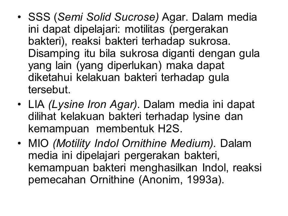 SSS (Semi Solid Sucrose) Agar