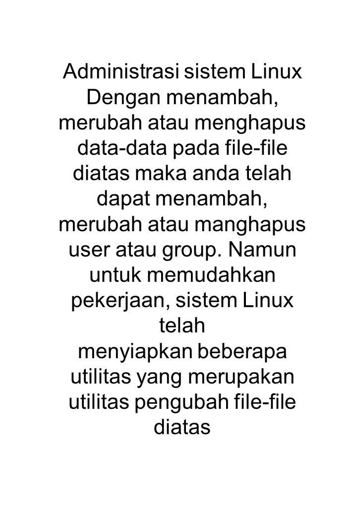 Administrasi sistem Linux