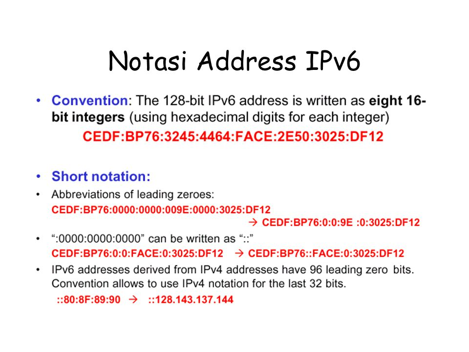 Notasi Address IPv6