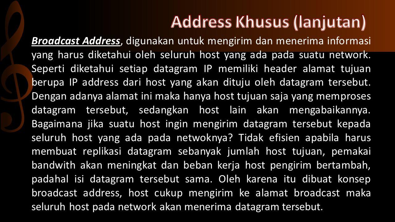 Address Khusus (lanjutan)