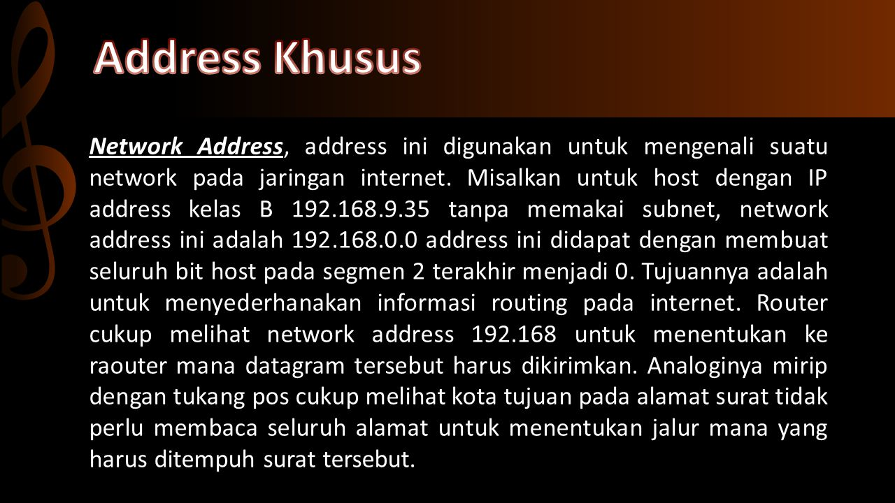 Address Khusus