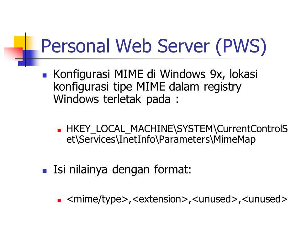 Personal Web Server (PWS)
