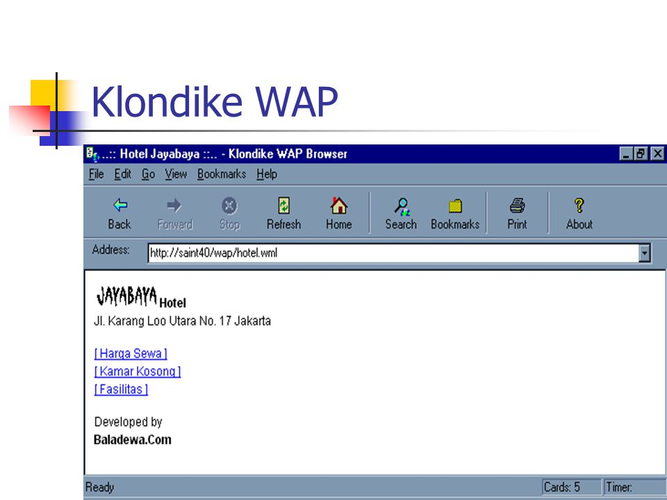 Klondike WAP