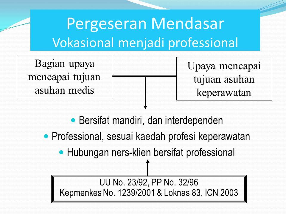 Pergeseran Mendasar Vokasional menjadi professional