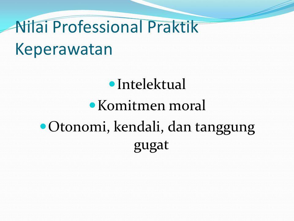 Nilai Professional Praktik Keperawatan