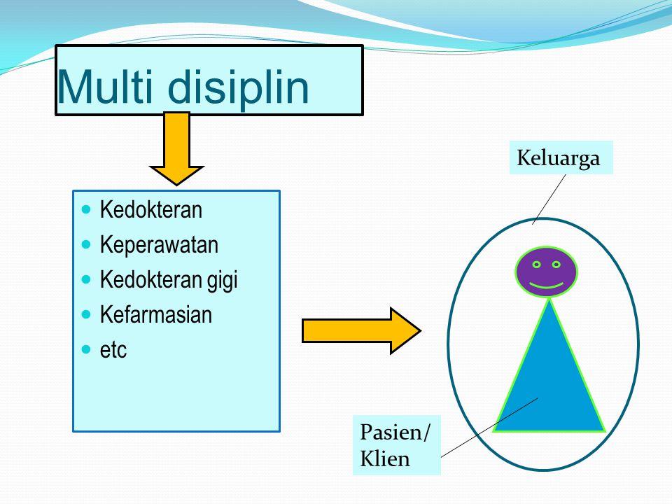 Multi disiplin Kedokteran Keperawatan Kedokteran gigi Kefarmasian etc