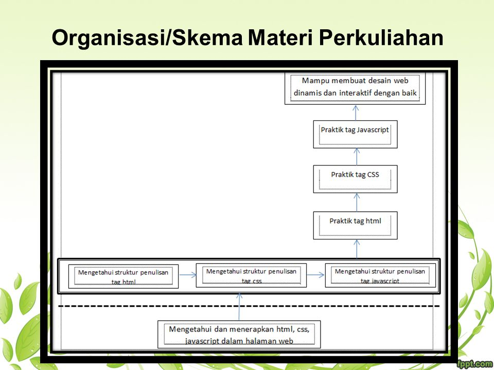 Organisasi/Skema Materi Perkuliahan