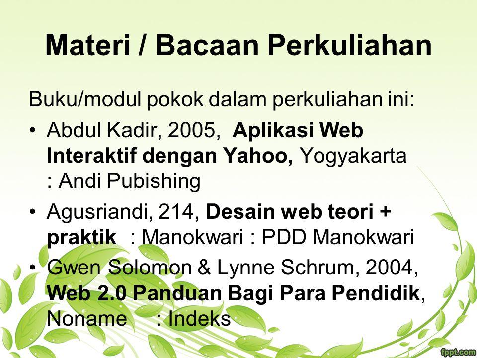 Materi / Bacaan Perkuliahan