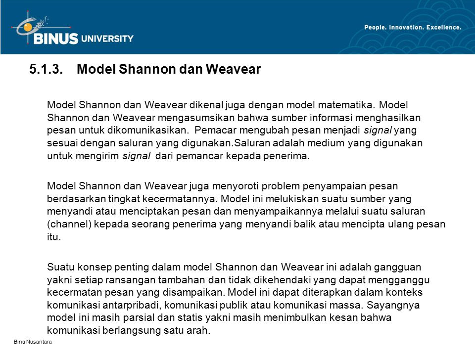 5.1.3. Model Shannon dan Weavear