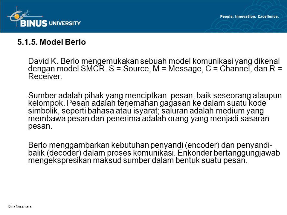 5.1.5. Model Berlo