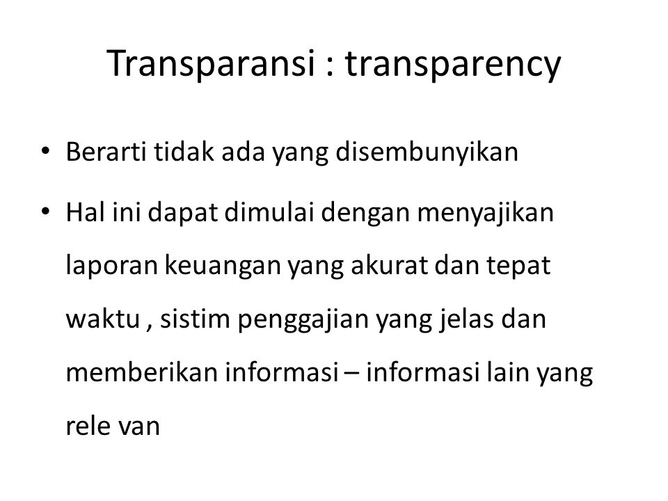 Transparansi : transparency
