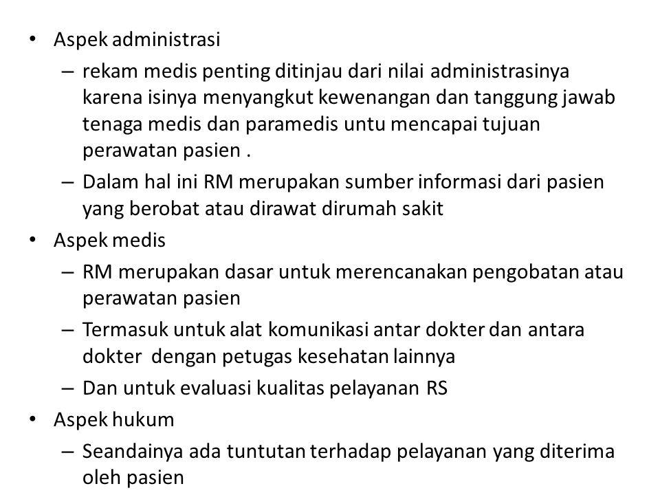 Aspek administrasi