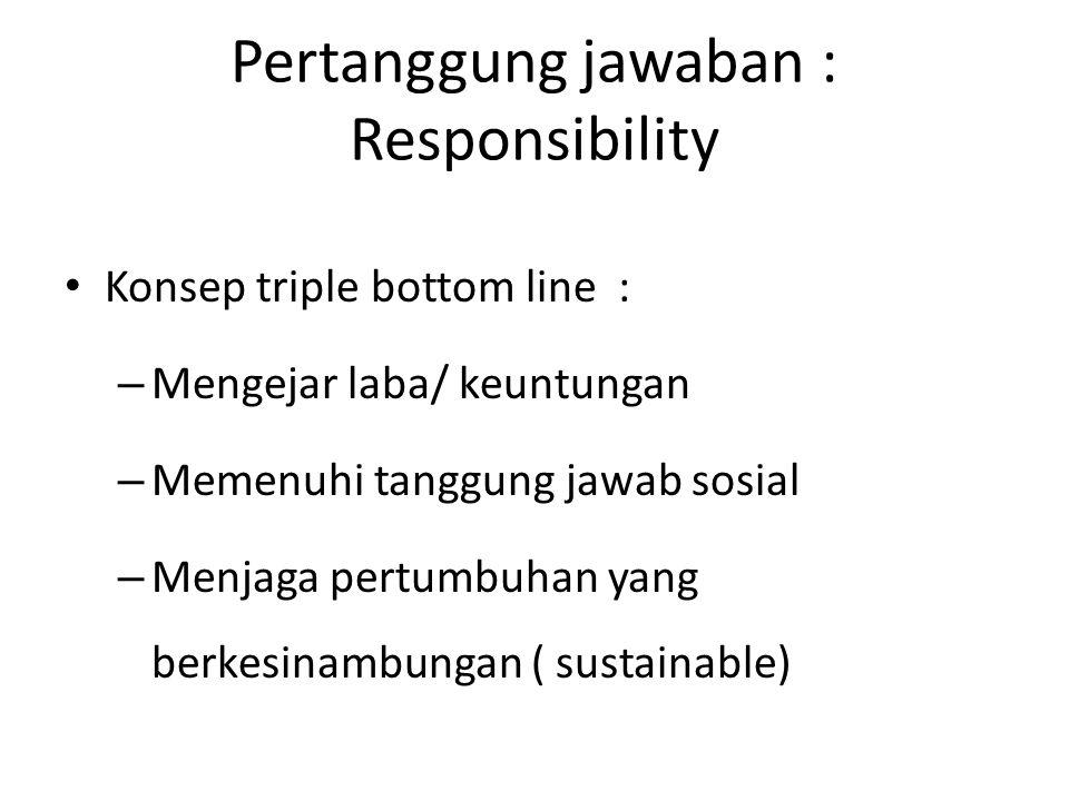 Pertanggung jawaban : Responsibility