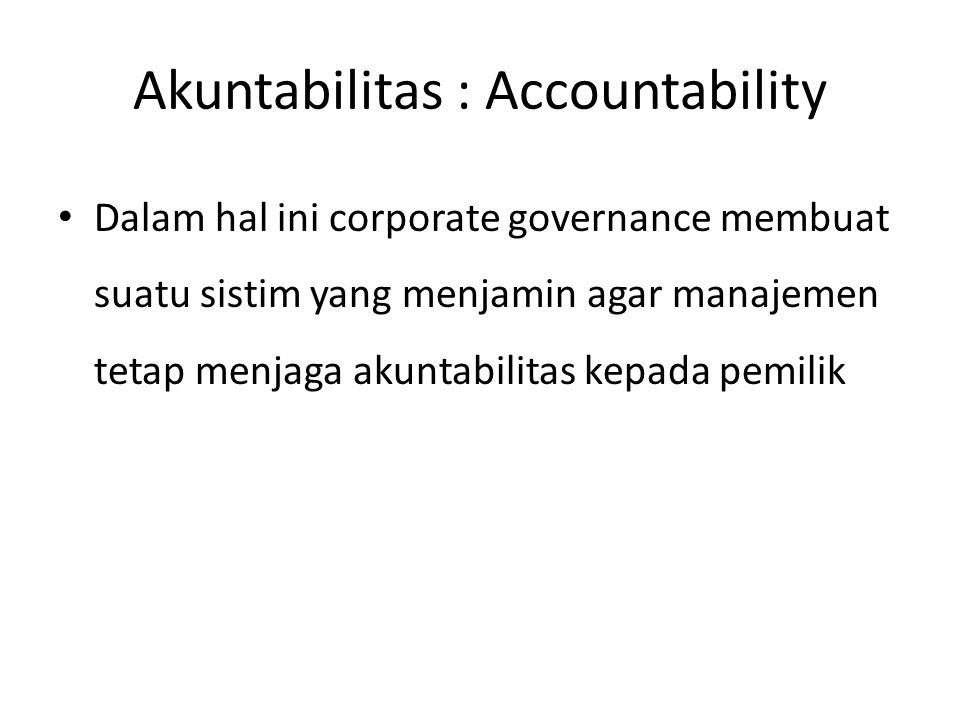 Akuntabilitas : Accountability