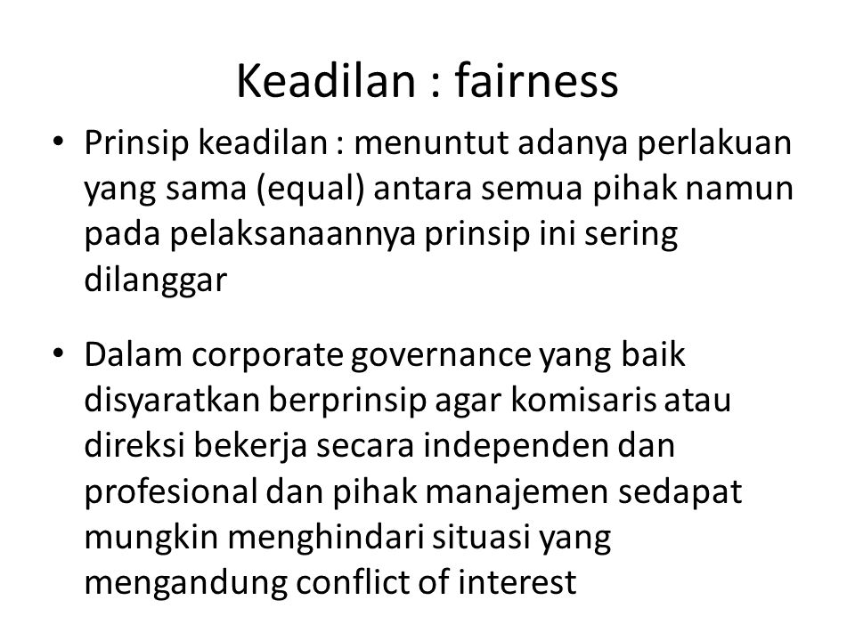 Keadilan : fairness