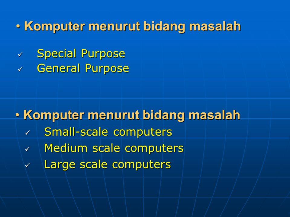 Komputer menurut bidang masalah