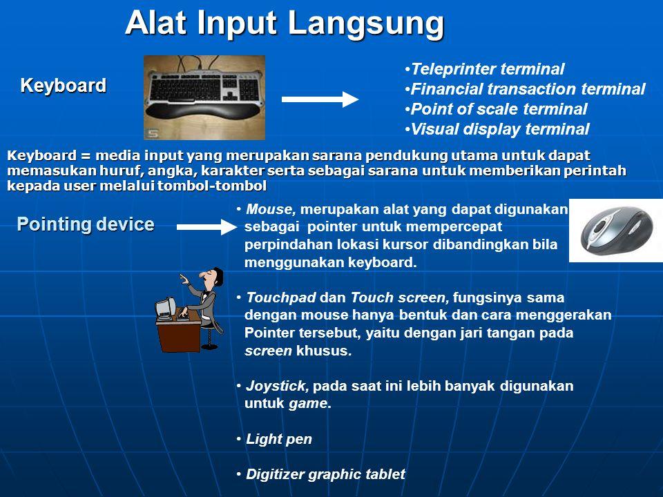 Alat Input Langsung Keyboard Pointing device Teleprinter terminal