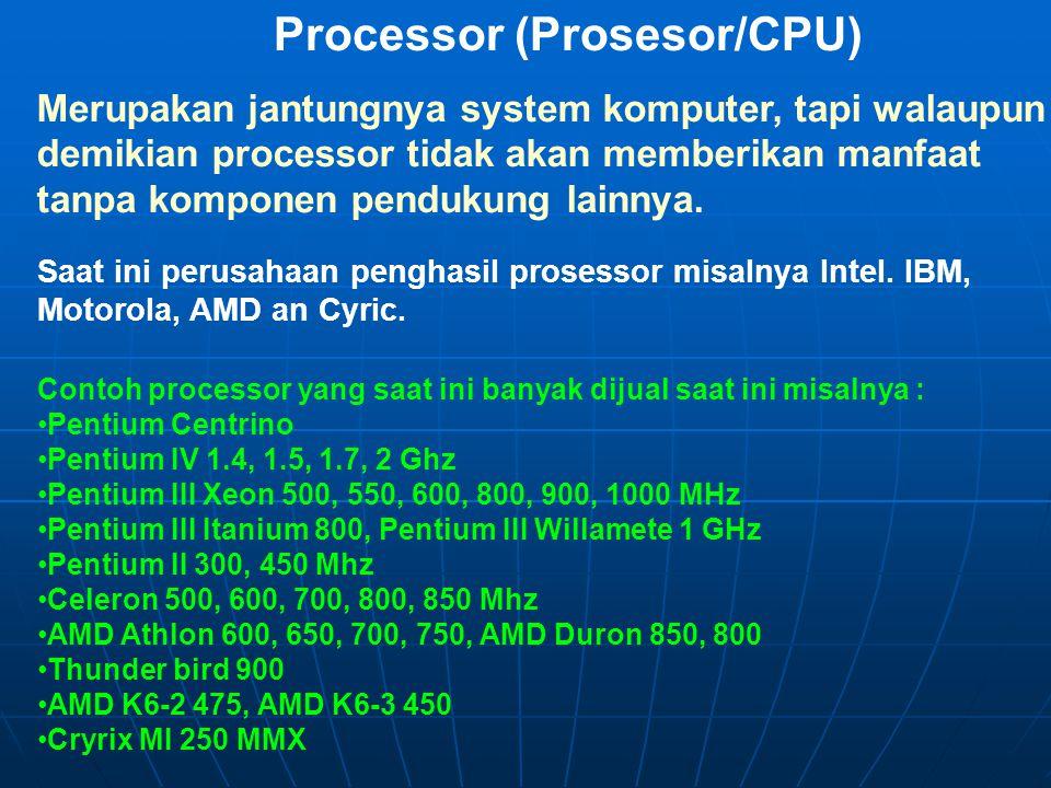 Processor (Prosesor/CPU)