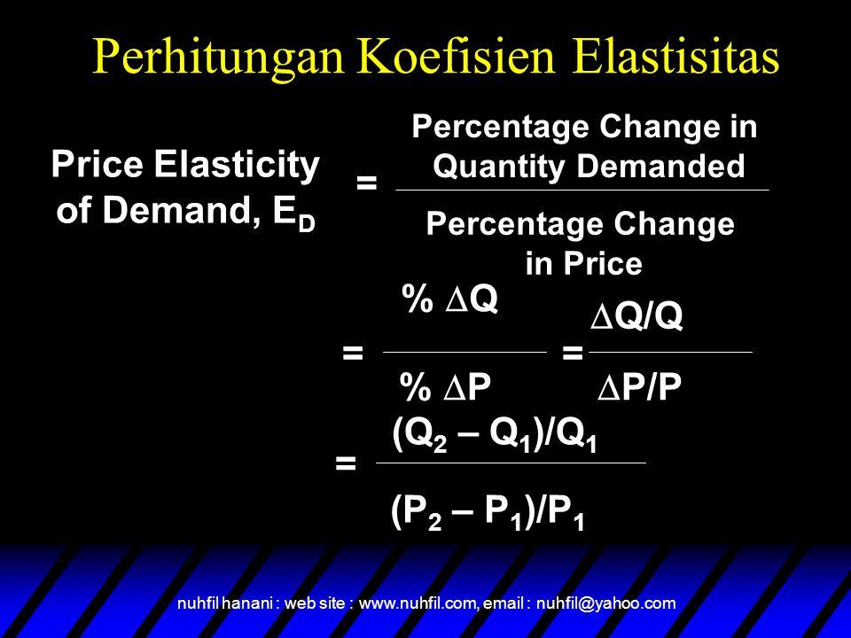 Perhitungan Koefisien Elastisitas