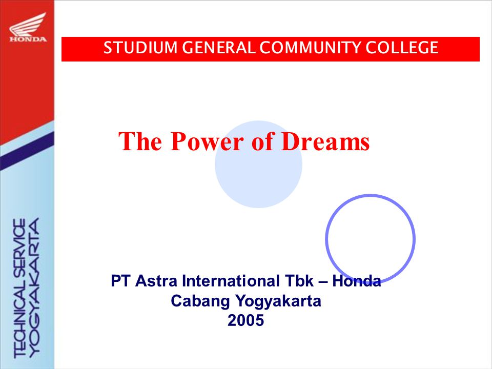 STUDIUM GENERAL COMMUNITY COLLEGE PT Astra International Tbk – Honda