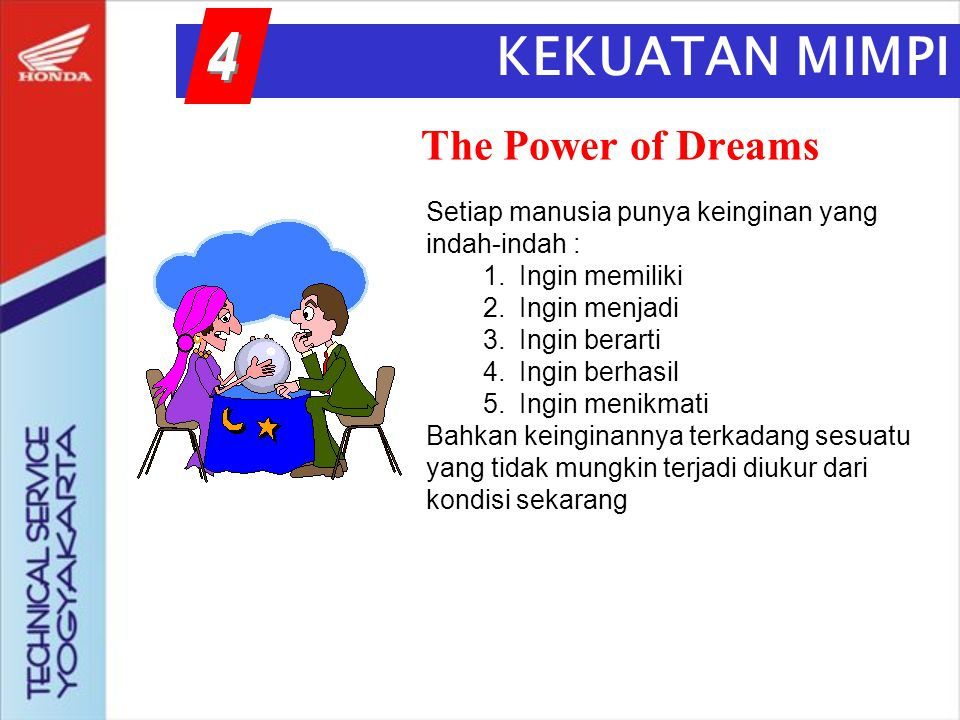 KEKUATAN MIMPI B 4 The Power of Dreams