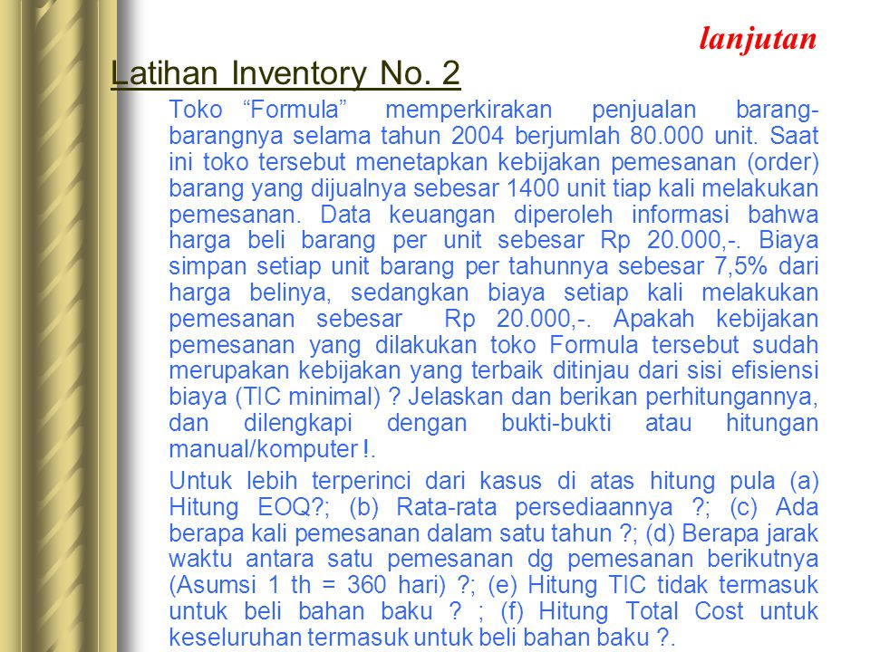 lanjutan Latihan Inventory No. 2