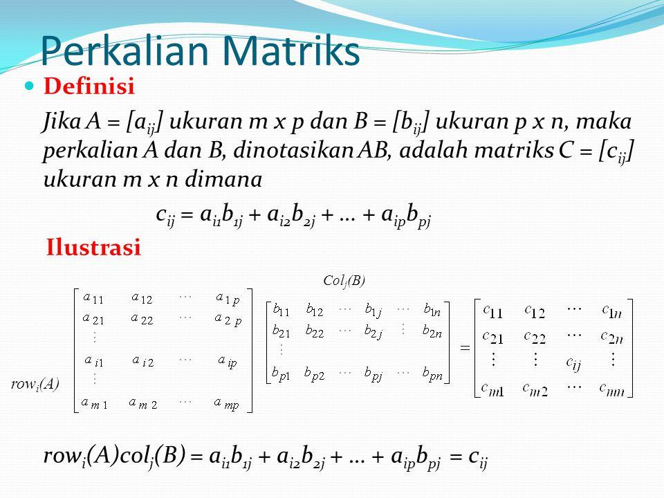 Perkalian Matriks Definisi