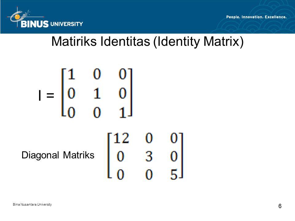 Matiriks Identitas (Identity Matrix)