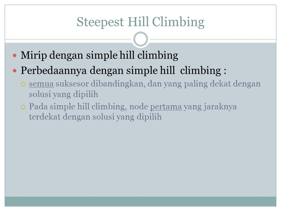 Steepest Hill Climbing