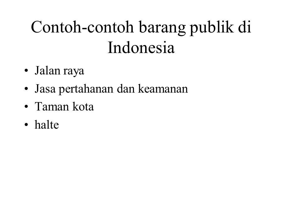 Contoh-contoh barang publik di Indonesia