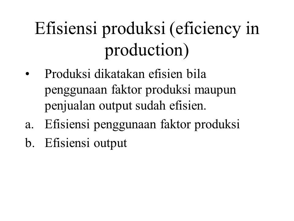 Efisiensi produksi (eficiency in production)
