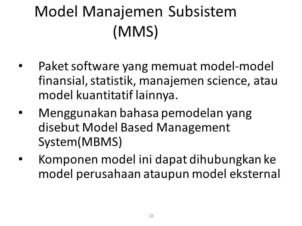 Model Manajemen Subsistem (MMS)