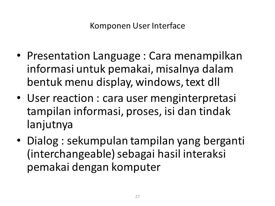 Komponen User Interface