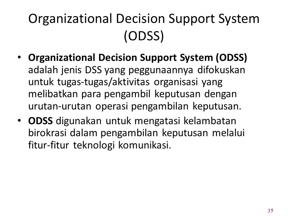 Organizational Decision Support System (ODSS)