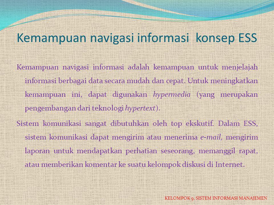 Kemampuan navigasi informasi konsep ESS