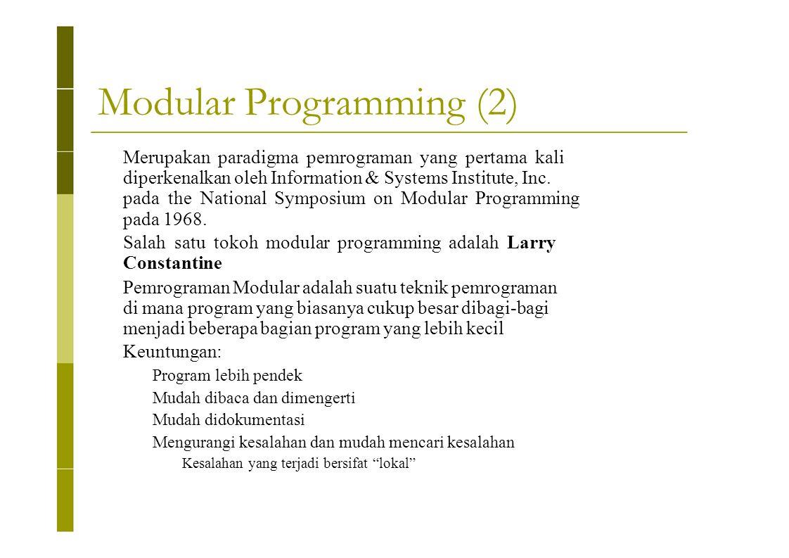 Modular Programming (2)