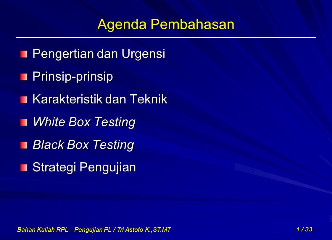 Agenda Pembahasan Pengertian dan Urgensi Prinsip-prinsip