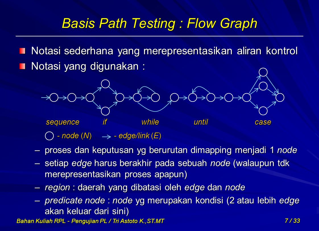 Basis Path Testing : Flow Graph