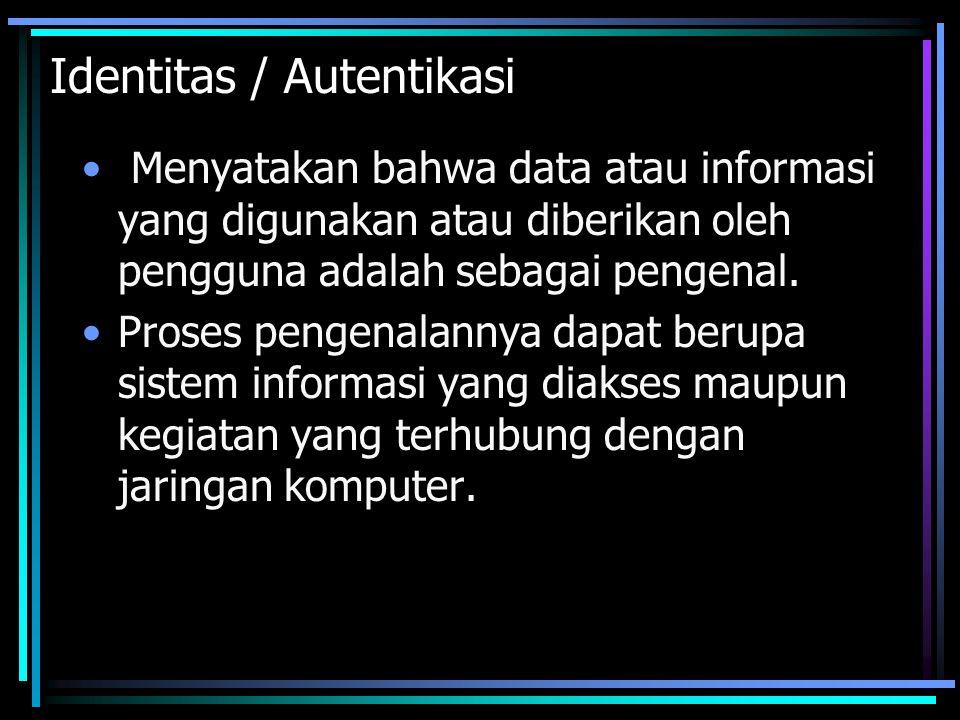 Identitas / Autentikasi